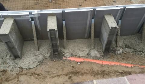 Betonierung der Bodenplatte